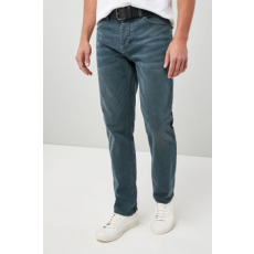 Next , Slim fit farmernadrág övvel, Kék, 36L (512627-BLUE-36L)