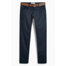 Next , Slim fit farmernadrág övvel, Sötétkék, 38R (542885-BLUE-38R)