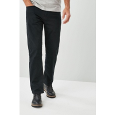 Next , Straight fit nadrág, Fekete, 42R (609970-BLACK-42R)
