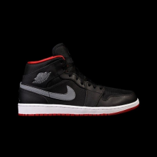Nike Air Jordan 1 Mid Black-Cool Grey GS