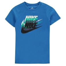 Nike gyerek póló - Nike Sunset Futura T Shirt Junior Boys Blue