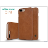 Nillkin Apple iPhone 7 Plus oldalra nyíló flipes tok - Nillkin Qin - barna