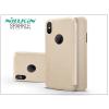 Nillkin Apple iPhone X oldalra nyíló flipes tok - Nillkin Sparkle Logo - gold