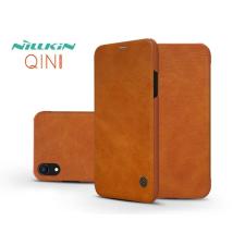 Nillkin Apple iPhone XR oldalra nyíló flipes tok - Nillkin Qin - barna tok és táska