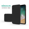 Nillkin Apple iPhone XS Max hátlap - Nillkin Synthetic Fiber - fekete