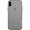 Nillkin iPhone X 5.8 NILLKIN NATURE telefonvédő gumi / szilikon (0.6 mm, ultravékony) SZÜRKE