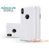 Nillkin Nillkin Sparkle Logo Apple iPhone X oldalra nyíló flipes tok - Fehér