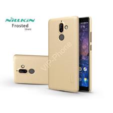 Nillkin Nokia 7 Plus (2018) hátlap képernyővédő fóliával - Nillkin Frosted Shield - gold tok és táska