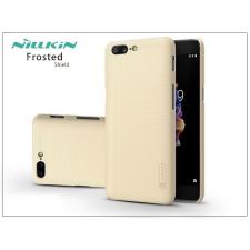 Nillkin OnePlus 5 (A5000) hátlap képernyővédő fóliával - Nillkin Frosted Shield - gold tok és táska