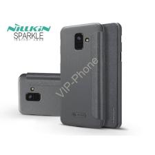 Nillkin Samsung A600F Galaxy A6 (2018) oldalra nyíló flipes tok - Nillkin Sparkle - fekete tok és táska