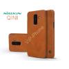 Nillkin Samsung A605 Galaxy A6 Plus (2018) oldalra nyíló flipes tok - Nillkin Qin - barna