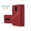 Nillkin Samsung A605 Galaxy A6 Plus (2018) oldalra nyíló flipes tok - Nillkin Qin - piros