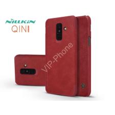 Nillkin Samsung A605 Galaxy A6 Plus (2018) oldalra nyíló flipes tok - Nillkin Qin - piros tok és táska