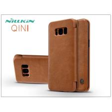 Nillkin Samsung G950F Galaxy S8 oldalra nyíló flipes tok - Nillkin Qin - barna tok és táska
