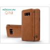Nillkin Samsung G950F Galaxy S8 oldalra nyíló flipes tok - Nillkin Qin - barna