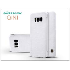 Nillkin Samsung G955F Galaxy S8 Plus oldalra nyíló flipes tok - Nillkin Qin - fehér tok és táska