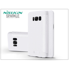 Nillkin Samsung G955F Galaxy S8 Plus oldalra nyíló flipes tok - Nillkin Sparkle - fehér tok és táska