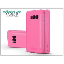 Nillkin Samsung G955F Galaxy S8 Plus oldalra nyíló flipes tok - Nillkin Sparkle - pink tok és táska