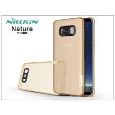 Nillkin Samsung G955F Galaxy S8 Plus szilikon hátlap - Nillkin Nature - aranybarna tok és táska