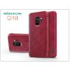 Nillkin Samsung G960F Galaxy S9 oldalra nyíló flipes tok - Nillkin Qin - piros