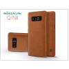 Nillkin Samsung N950F Galaxy Note 8 oldalra nyíló flipes tok - Nillkin Qin - barna