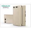 Nillkin Sony Xperia XZ1 Compact (G8441) oldalra nyíló flipes tok - Nillkin Sparkle - gold