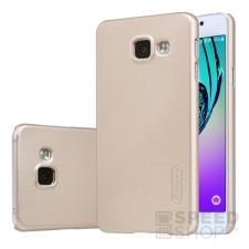 Nillkin Super Frosted hátlap tok Samsung A310 Galaxy A3 (2016), arany + ajándék kijelzővédő fólia tok és táska