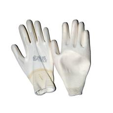 NMSafety PU tenyérmártott, poliészter kesztyű (EN 3131), fehér, XXL-es