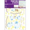 No-name Falimatrica -WALLKID226- 50x70cm Kék bárány <1ív/ csom>