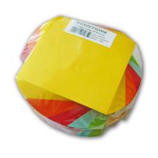 No-name Kockatömb 9x9x6cm csavart színes jegyzettömb