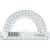No-name Szögmérő műanyag átlátszó 180 fokos 72db/dob