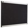 """NOBO Habtábla, tűzhető, fekete, 120x180 cm, alumínium/műanyag keret, NOBO """"Prestige"""""""