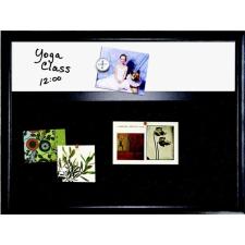 NOBO Kombi tábla, fehér mágneses/fekete filc, 43x58 cm, fekete fakerettel, NOBO felírótábla