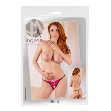 Női nyitott tanga, strasszos csattal (pink) női tanga