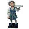 Női reklámfigura- 80 cm/kislány tálcával