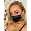 Noir - fényes, strasszos maszk (fekete)