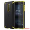 Nokia 5 ütésálló műanyag hátlap,Fekete/Citrom