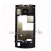 Nokia 6700 slide középső keret töltőcsatlakozóval headsetcsatlakozóval vakuval fekete (swap)