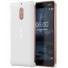 Nokia 6 gyári carbon hátlap tok, fehér, CC-802