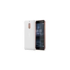Nokia 6 gyári carbon hátlap tok, fehér, CC-802 tok és táska