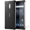 Nokia 6 gyári carbon hátlap tok, fekete, CC-802