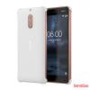 Nokia 6 műanyag hátlap,karbon mintás, Fehér