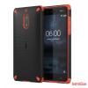Nokia 6 ütésálló műanyag hátlap,Fekete/Narancs