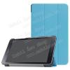 Notesz / mappa tok - VILÁGOSKÉK - oldalra nyíló flip cover, TRIFOLD asztali tartó funkciós, mágneses záródás - SAMSUNG SM-T380 Galaxy Tab A 8.0 (2017) / SAMSUNG SM-T385 Galaxy Tab A 8.0 (2017) (4G/LTE)