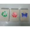 """Notesz \""""Recycled 2\"""", különböző formával, felülspirálozott (1db)"""