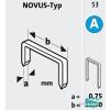 Novus tűzőkapocs A 11,3x0,7mm 4mm 2000db-os