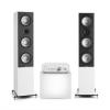 Numan Drive 801, sztereó készlet, sztereó erősítő, torony hangfal, fehér/fehér