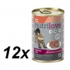 Nutrilove Cat paté DUCK Macskaeledel - 12 x 400g