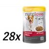 Nutrilove Dog pouch, gravy CHICKEN Kutyatáp - 28x85g