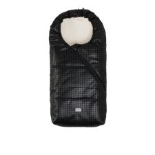 Nuvita AW Junior Pop bundazsák 100cm - Eco Black Leather / Beige - 9635 babakabát, overál, bundazsák